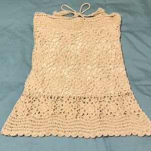 Jayli embroidered cream festival skirt or top